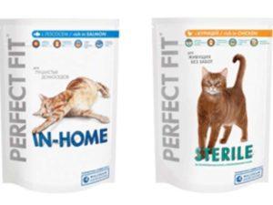 Пакеты корма Перфект Фит для кошек