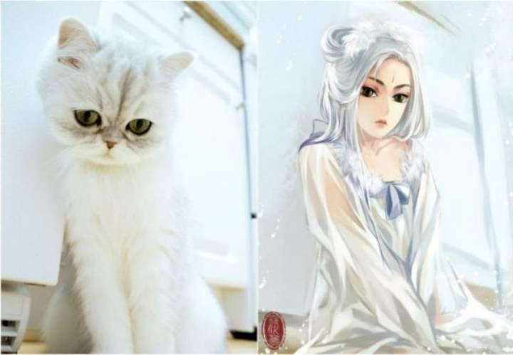 Девушка художника аниме